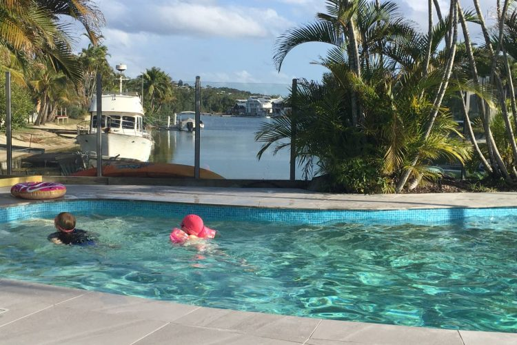 Noosa Terrace Communal Pool With View To Canal 750x500