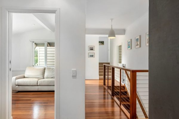 5 Ranger Court Sunrise Beach Upstairs Passage Way With Stairs Leading Down To Family Area
