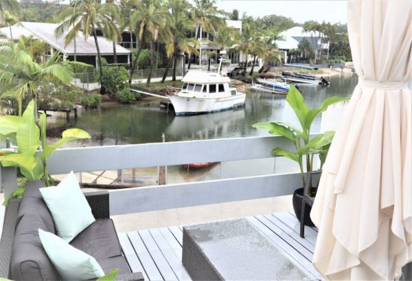 Noosa Terrace On The River Upstairs Deck From Master Bedroom